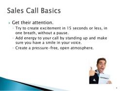 sales call basics