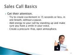 sales call basics