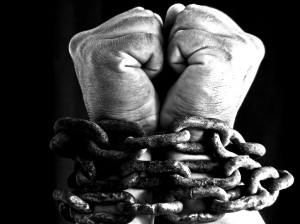 chains over wrists image