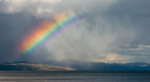 rainbow in the clouds image