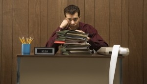boring desk job image
