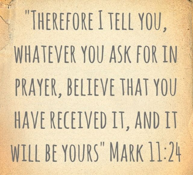 prayer verse Mark