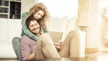 couple on couch image