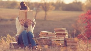 girl with book image