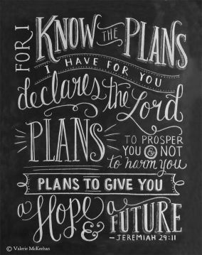 Jeremiah 29-11 chalkboard