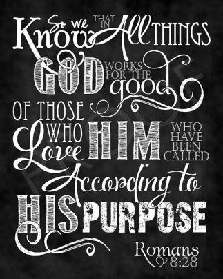 Romans 8 28 chalkboard