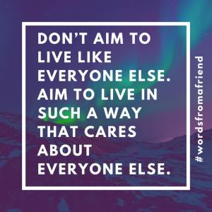 Care about everyone else